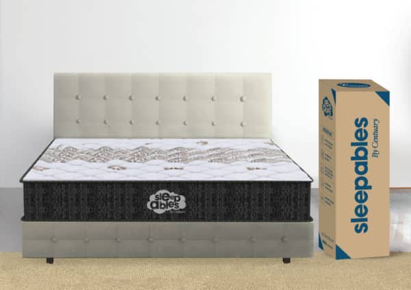 8 inch hybrid memory foam pocketed spring mattress in box.