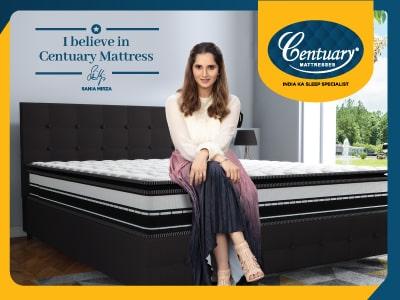 Sania Mirza Centuary Mattress Brand Ambassdor