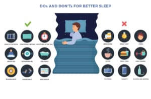 Dos and don'ts for better sleep